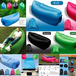 Wholesale Fast Inflatable Air Sleeping Bag Camping Bed Beach Hangout Laybag Sofa Lazy Sofa