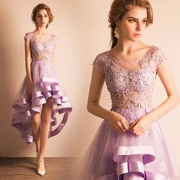 Wholesale High Low Modest Discount Short Prom Dresses Party Cocktail Gowns Sale Formal Bridesmaids Dress Women Vestido de novia Store E368