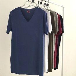 Wholesale Sell Men s Classic Undershirt Bamboo Fiber Modal V Neck Basic Summer Undershirts Cozy Best Quality Price