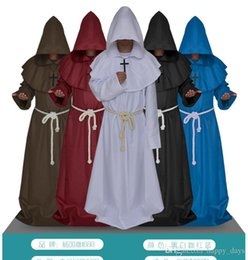 Wholesale Sunshine Phi Halloween The Medieval Times Monks And Priests Friar Robe Wizard Minister Christian Church Cos Serve