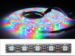 Promotion couleur de rêve magique 10M 300 LEDS noir PCB 5050 RVB LED Strip Light tube imperméable Magic Dream couleur WS2812B WS2811 Individuel adressable 5VDC