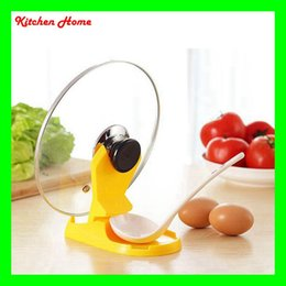 Plastic Kitchen Rack Support For Spoon Pot Cover Lid Kitchen Utensil Pan  Ladle Support Stand Kitchen