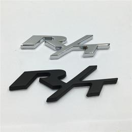 Good Quality 1Pcs Metal 3D RT R T Car Emblem Chrome Badge Side Logo Car Stickers Decal