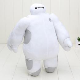 Superhéroes juguetes de peluche en venta-En los juguetes de superhéroes Baymax Robot manos movibles felpa rellena Animales Juguetes Big Hero 6 regalos calientes de Navidad para los niños de los niños