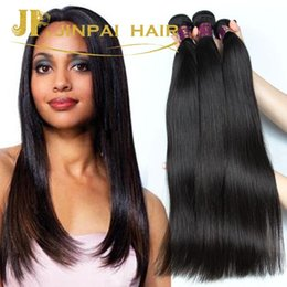 Free Shipping Hot Selling Brazilian Virgin Hair Straight Weave Bundles Cheap Remy Human Hair Extensions Natural Color 1B