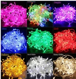 Wholesale 50m Waterproof Outdoor Festival LED String Fairy Light Christmas Wedding Party Holiday Garden Holiday Decoration Lights V