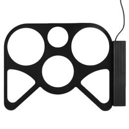 2017 batterie électronique pad ensemble Vente en gros-Vente Portable USB PC Bureau électronique Rouleau de batterie Pad Kit Set Tambour Sticks Pédale promotion batterie électronique pad ensemble