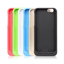 Wholesale 100pcs Simple Package mAh Rechargeable Power Bank Case Battery Charger Case for iPhone S Power Pack Portable Battery Cover Pack
