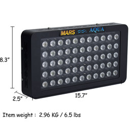 Wholesale MarsHydro Dimmable W LED Aquarium Lights Full Spectrum for Reef Coral LPS SPS Two Switches Two Dimmers for tank