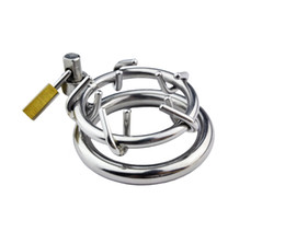 Latest Design Stainless Steel Crown of Thorns Male Chastity device BD Hot Fetish Sex Toy A157