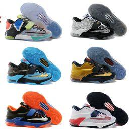Dorp Livraison en gros bon marché Kevin VII KD 7 BHM Bas Hommes Kids Kids Sports Basketball Chaussures KD Durant Sneakers Taille 40-46 à partir de kd chaussures hommes taille 12 fabricateur