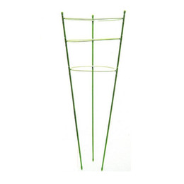Wholesale 80pcs Height cm Metal Plastic Plant Supporter Support Cage Plant Staking System For Clematis Tomato Lily Gardon Supplies ZA0980