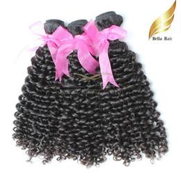 "Mongolian Kinky Curly Hair Weaves 3pcs 100% Virgin Human Hair Extensions 8""-30"" Hair Wefts Natural Color 8A Bellahair"