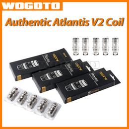 Promotion aspire atlantis méga Authentic Aspire Atlantis V2 Coil 0,3 0,5 1.0ohm SUB OHM Coil Pour Aspire Atlantis 2.0 Mega Clearomizer Atlantis remplacement Atomizer