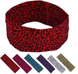 leopard print elastic headband hairbands women sports yoga hair accessories head wrap hair band wristband hair bobble headwear jewelry
