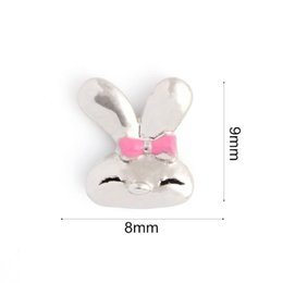 20Pcs Lot Free Shipping Silver Plated Animal Rabbit Floating Locket Charms for Memory Glass Locket Wholesale