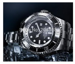 Wholesale LUXURY Brand New Factory sales luxury MM Challenge Ceramic Sea Dweller Sea dweller Automatic Men s Watch Black Stainless steel Mens