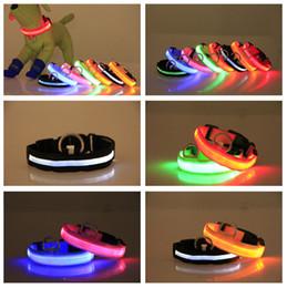 6 colors Nylon LED Pet flashing dog collar LED pet collar necklace cat collar Night Light Holiday Gift