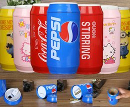 Wholesale Newest Cute Automatic Electric Lazy Self Stirring Mug Mixing ML Cans Shape Instant Drink Mixer Coffee Cup With Cover Designs