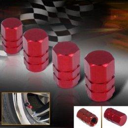 Wholesale 10 SETS Aluminum Alloy Wheel Tire Air Rim Valve Stem Caps For Car Truck ATV Bicycle Motorcycle Wheel Rim Red