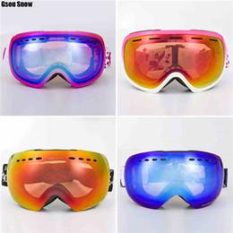 free shipping GSOU SNOW ski glasses prevent mist drop glasses double anti-fog ski glasses