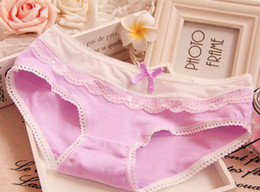 Ladies underwear candy lace bow cotton underwear lady cotton underwear wholesale ladies underwear