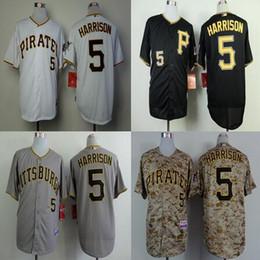 Cheap Pittsburgh Pirates baseball Jersey#5 Josh Harrison Jersey cool base White Black Grey Yellow
