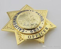 Wholesale High Quality Replica Police Ussr American Metal Badges Militaire Medailles California Highway Patrol Chp Sergeant Metal Badge No