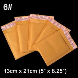 Descuento burbuja de papel kraft Al por mayor-130 x 210 mm (5 x 8,25 pulgadas) de la burbuja de papel Kraft bolsa acolchada Mailer Bolsas sobres de correo bolsas de aire 40 PC / porción