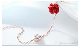 925 sterling silver bracelet rose quartz crystal bracelet strass pulseras mujer