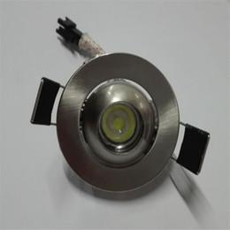 Selling Mini Spotlight Eye Ball LED Down Light 3 Watt White LED Ceiling light Cabinet light display against recessed wall background