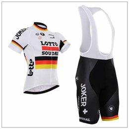 Wholesale-2016 Cycling Jersey Lotto White Soudal Bicycle Bike Clothing Maillot Ropa Ciclismo Padded Bib Shorts Road Bike Clothing for Men