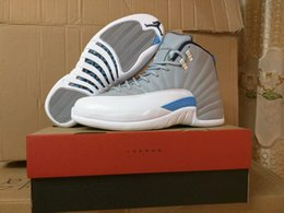 Wholesale Drop Shipping Super Perfect Nike Jordan Wolf Grey Blue Men Shoes Size