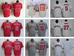 Wholesale Men s Corey Seager Mike Trout Andrelton Simmons Blank Cool Base Baseball jerseys Top Quality Baseball jersey Drop Shipping