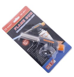 gas torch Hiking Camp fire starter Maker Flame Gun Lighter Gas Butane Burner Auto Ignition Weld Flame Gun Kit