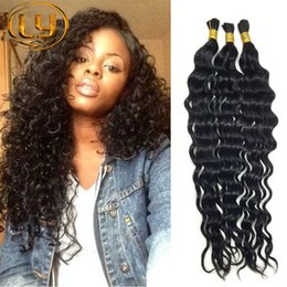Wholesale Hot Sale A Deep Curly Brazilian Bulk Human Hair For Braiding Unprocessed Human Braiding Hair Bulk No Weft Brazilian Braiding Hair