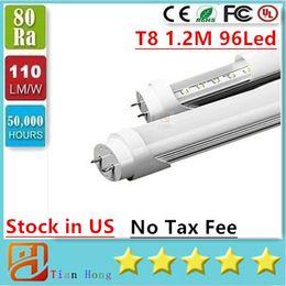 Wholesale Stock In USA ft led tube W w W T8 m Led Lights Tubes AC V No Tax Fee