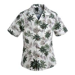 Wholesale-Cotton Mens Floral Dress Shirts Hawaiian Large Cruise Tropical Luau Beach Hawaiia Shirt Party Palm Leisure Shirts Chemise Homme