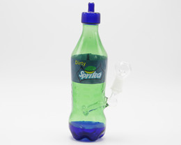 Wholesale 2016 newest Spritech Dirty bong coke bottle Sprite Glass Water Pipe Smoking pipes oil rig Sprite Glass Water bong
