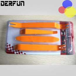 Wholesale 4pcs Kit Car Disassembly Tools Car dvd player Stereo Refit Tools Interior Plastic Trim Panel Dashboard Installation Removal Pry