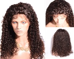 Raw natural Human Hair Full Lace Wig Unprocessed 8A Top Quality kinky curly Lace Front Wig for Black African women