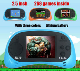 Wholesale Rs coolbaby inch liquid crystal NES bit game inside lithium battery portable handheld video game console children s toys gifts