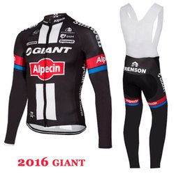SPRING SUMMER CYCLING LONG JERSEY ROPA CICLISMO+BIB PANTS 2016 GIANT ALPECIN PRO TEAM BLACK 3D GEL PAD-PICK SIZE:XS-4XL G35