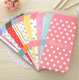 Wholesale-5pcs lot Candy color dot and stripe Paper envelope for love letter gift cards note cash holiday blessing Kawaii paper pocket