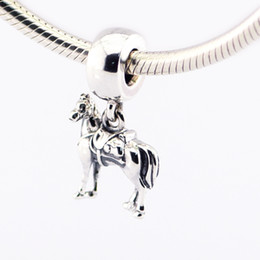 Wholesale 100 Sterling Silver Sorcerer Dangle Charm Bead Maximus Fits for Pandora Snake Chain Bracelets bangles Necklaces European Style Jewelry