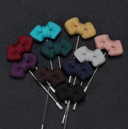 Korean fashion fabric and sharp bow brooch brooch brooch Men XZ11