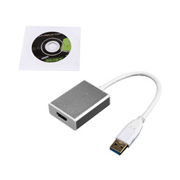 Wholesale DHL Shipping USB To b HDMI Converter Adapter Cable Highest Resolution P Connector Silver Shell For Computer