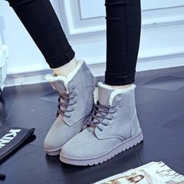 Wholesale 5 couleurs bottes de neige d hiver de la croûte épaisse Martin bottes de dentelle chaussures classiques de chaussures chaudes en coton chaud bottes pour femmes