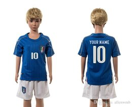 Wholesale italy EURO CUP european national team kids soccer jersey kid uniform youth kit child kits children jerseys teenager uniforms top tops