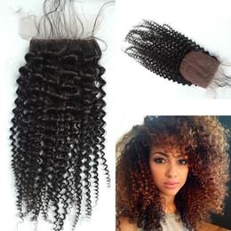 Malaysian Silk Base Closure,Free 3 Part Kinky Curly Silk Base Closure Malaysian Virgin Hair,4x4 Silk Top Closure G-EASY